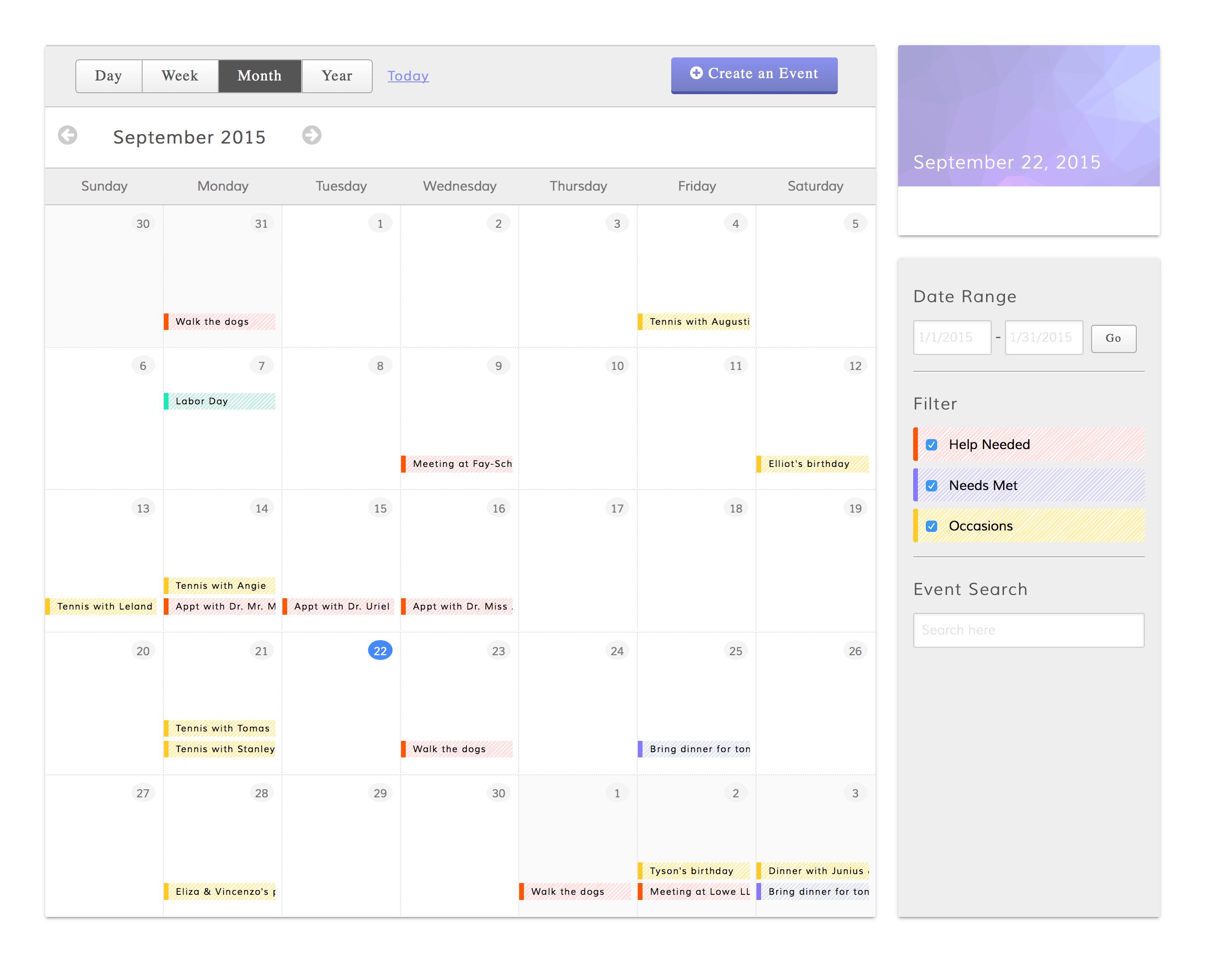 Calendar Planner Nodejs : React js task calendar part one by hilary l
